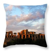 Domus Augustana  Throw Pillow by Fabrizio Troiani
