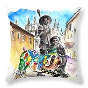 Don Quijotes New Pet Throw Pillow