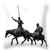 Don Quixote And Sancho Panza  Throw Pillow