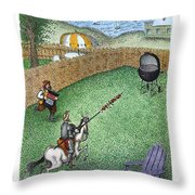 Don Quixote In The Hamptons Throw Pillow