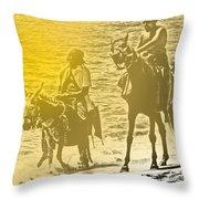 Don Quixote Rides Again Throw Pillow