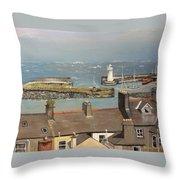 Donaghadee Ireland Irish Sea Throw Pillow