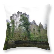 Donegal Castle Ruins Throw Pillow