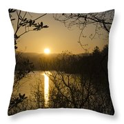 Donegal Morning - Lough Eske Throw Pillow