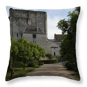 Donjon Loches - France Throw Pillow