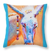 Jack's Other Girl - Burro - Donkey Throw Pillow