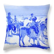 Donkey's On The Beach Throw Pillow