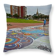 Donkin Reserve In Port Elizabeth-south Africa  Throw Pillow
