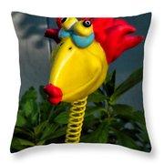 Donna's Bird Says Kiss Me Throw Pillow