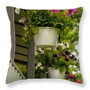 Donna's Petunias Throw Pillow