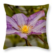 Donna's Purple Flower Throw Pillow
