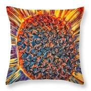 Donna's Sun Flower Throw Pillow