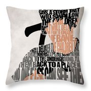 Donnie Darko Minimalist Typography Artwork Throw Pillow