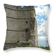 Donnington Castle Throw Pillow