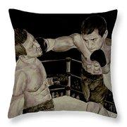 Donovan Boxing Throw Pillow