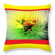 Don't Be Chicken, Be Cocky Throw Pillow
