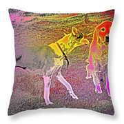 Dont Be Shy, My Friend, Be Bold  Throw Pillow