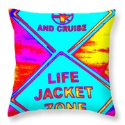 Don't Booze And Cruise Throw Pillow