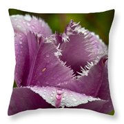 Dont Call Me A Monster Just Because I Have Teeth Purple Tulip Throw Pillow