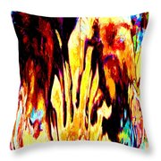 Don't Cry Over Spilled Paint Throw Pillow