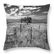Don't Fence Me In - Black And White Throw Pillow