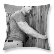 Dont Fence Me In Bw Throw Pillow by William Dey