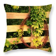 Don't Fence Me In Throw Pillow by Cricket Hackmann