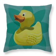 Don't Give A Rubber Duck Throw Pillow