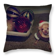 Don't Hang Me On Your Tree Throw Pillow by Laurie Search