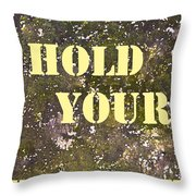 Dont Hold Your Breath Throw Pillow
