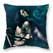 Dont Leave Me To The Night Throw Pillow