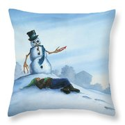 Dont Fuck With Frosty For He Can Really Ruin That Holiday Spirit Throw Pillow
