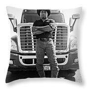 Don't Mess With My Truck Throw Pillow