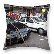Don't Park Here Throw Pillow