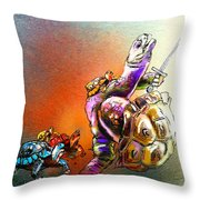 Dont Touch My Children Throw Pillow