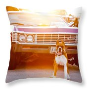 Don't Touch My Ride Throw Pillow