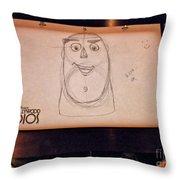 Doodle Of Buzz Light Year Throw Pillow