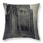 Doomed Castle Throw Pillow
