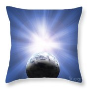 Doomed Planet 01 Throw Pillow