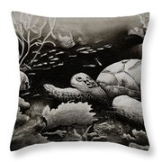 Doomed Sea Life Throw Pillow