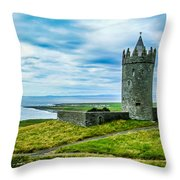 Doonagore Castle In Ireland's County Clare Throw Pillow