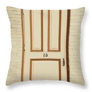 Door 35 Throw Pillow