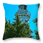 Door County Wi Lighthouse Throw Pillow