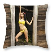 Door Frame Throw Pillow