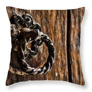 Door Knocker Throw Pillow by Heather Applegate