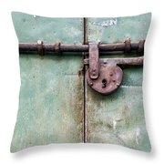 Door Lock Throw Pillow