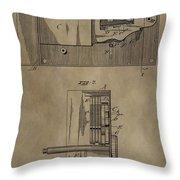 Door Lock Patent Throw Pillow