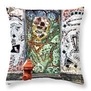 Door Mosaic Throw Pillow