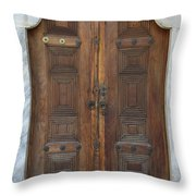 Door Of The Topkapi Palace - Istanbul Throw Pillow