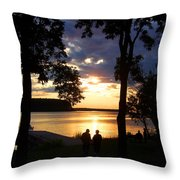 Door Peninsula Sunset Throw Pillow